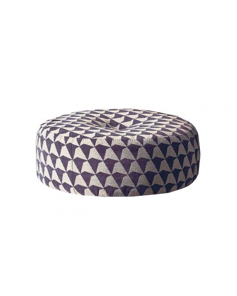 Meridiani Scott Pouf Geometric Texture