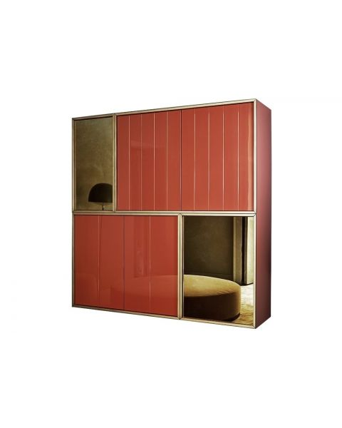 Meridiani Wolfgang Cabinet Red Color