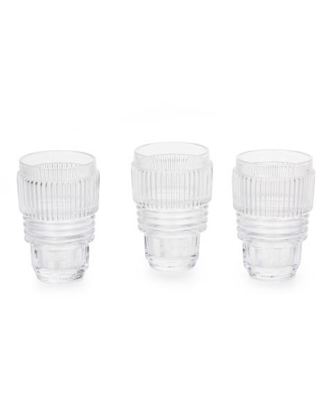 Drinking Glass Large Set of Three Seletti Machine Collection