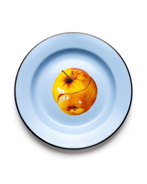 Enamel Plate Seletti Apple