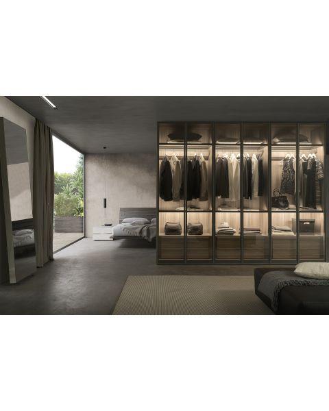 Presotto Framed Glass Door Wardrobe