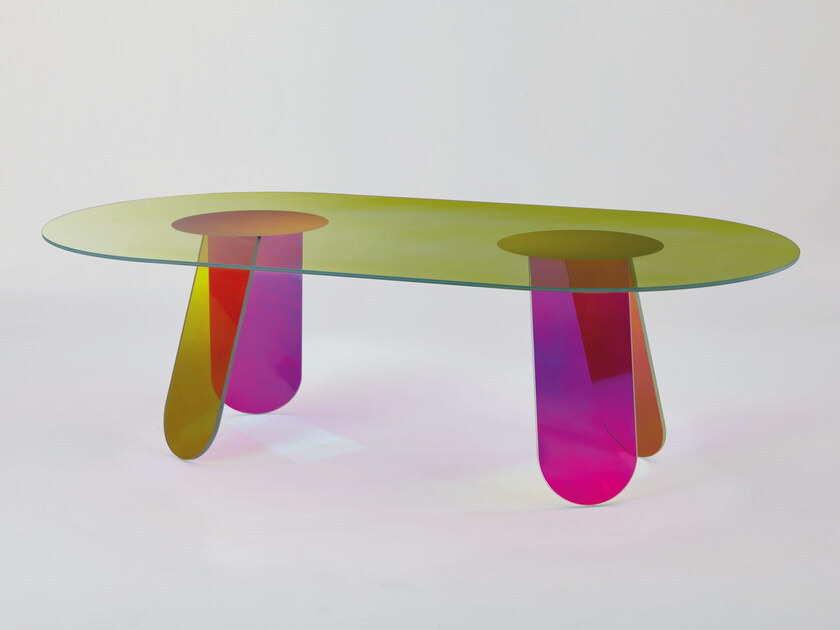 Shimmer Glas Italia Table It's Best Furniture To Stand Out The Effect Of Lighting