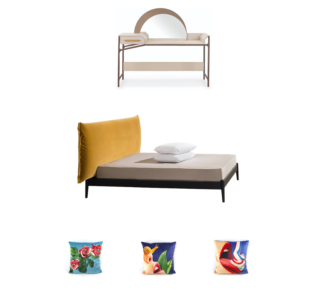 Miniforms Shiko Wonder Bed, Seletti Toilet Paper Cushions