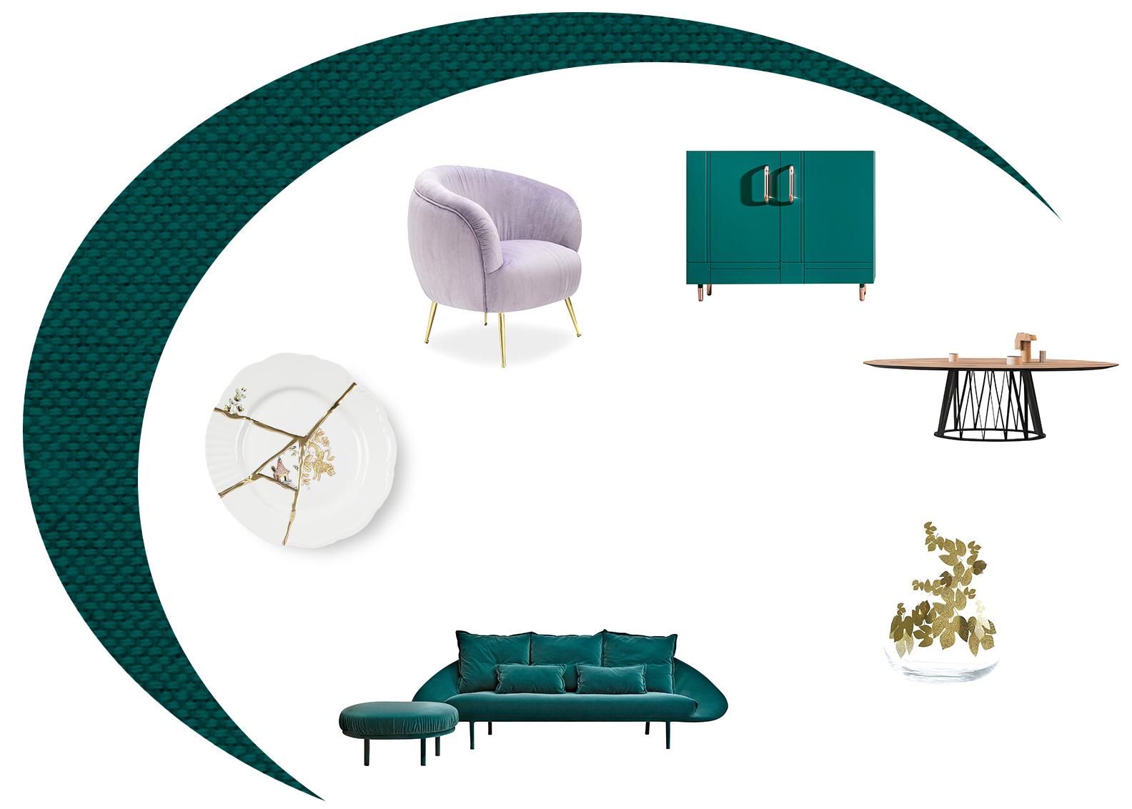 Miniforms Lem Sofa, Dalila Sideboard, Acco Dining Table, Vase, Armchair
