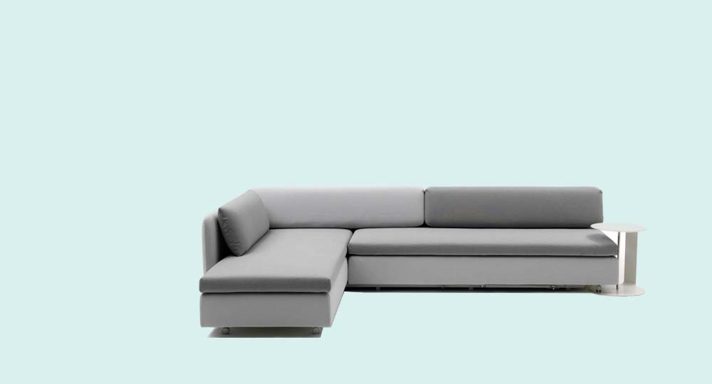 Campeggi Abc Sofa Grey Fabric, Corner Version