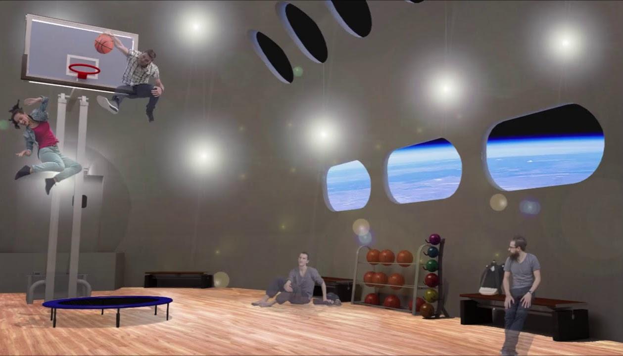 Voyager Station, Interiors, Basketball Field Design