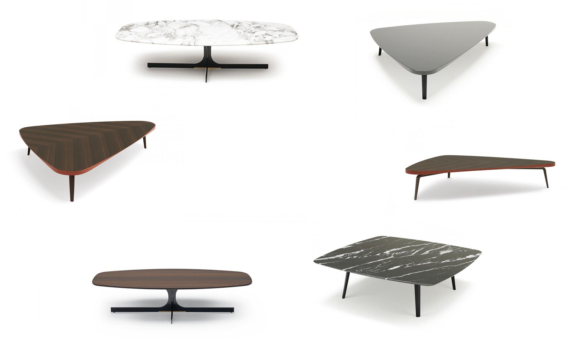 MisuraEmme Gramercy Low Table WoodFrame, MisuraEmme Janus LowTable Marble Plane
