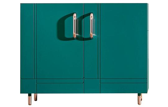 Miniforms Dalila Lacquered Sideboard Pastel Green Finish