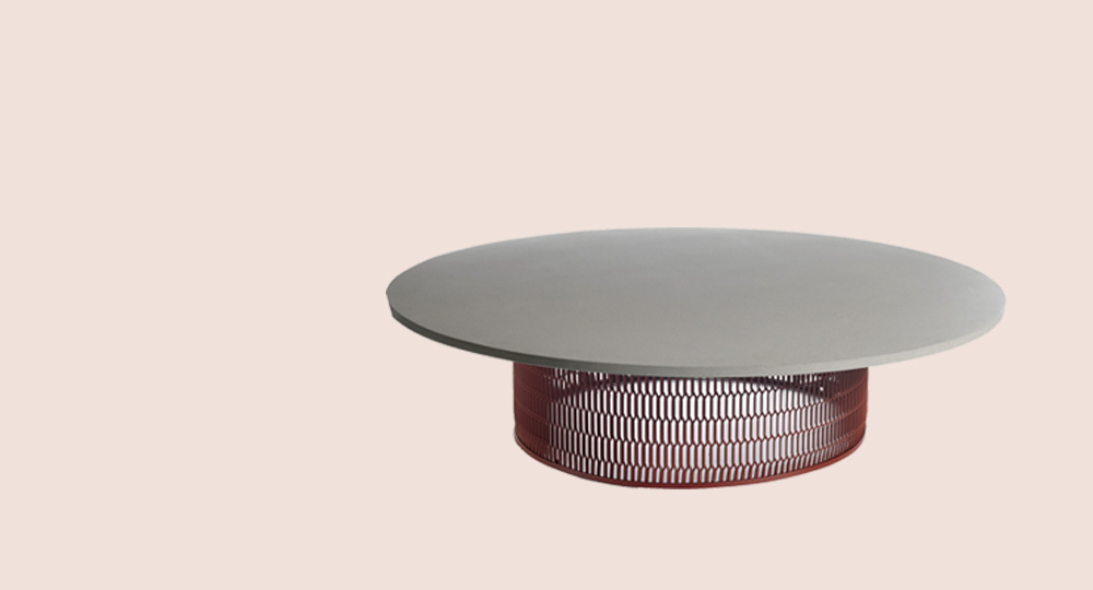 Kettal Mesh Low Table, Grey Top